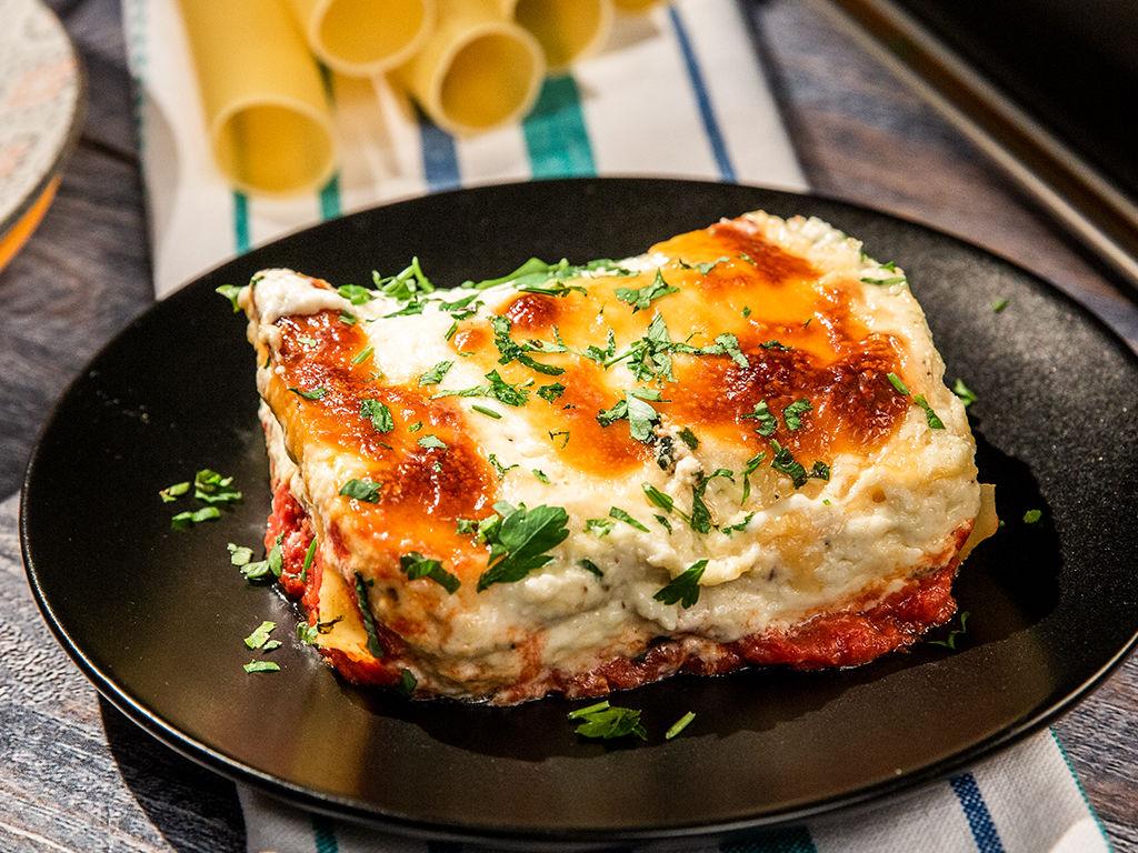 Cannelloni cu brânză și spanac