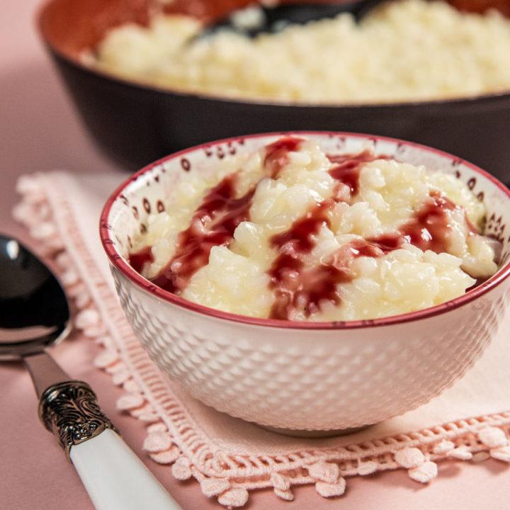 Risotto cu sos de vin roșu