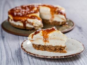 Cheesecake cu caramel sărat
