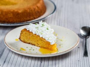 Prăjitură cu mălai și portocală