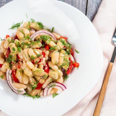 Salată de fasole boabe cu sos de muștar