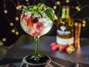 Gin tonic cu fructe de pădure