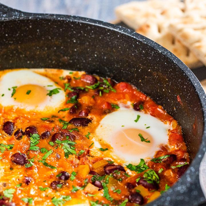 Ouă în stil mexican