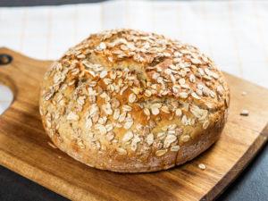 Pâine cu făină integrală și ovăz