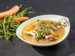 Supă de ciuperci shimeji