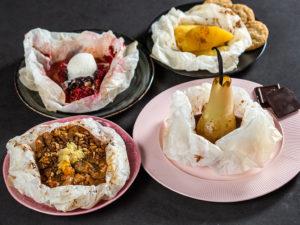 4 rețete de fructe la cuptor în foaie de copt
