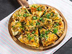 Frittata cu cartofi și ciuperci shimeji