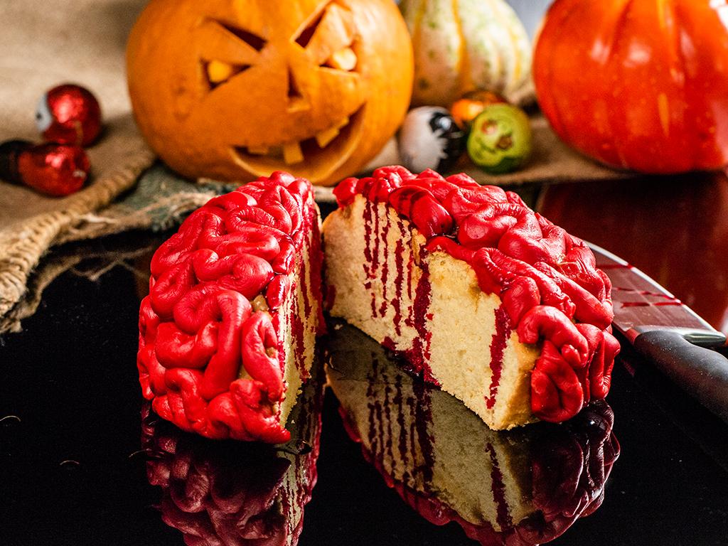 Creier ''însângerat'' de Halloween