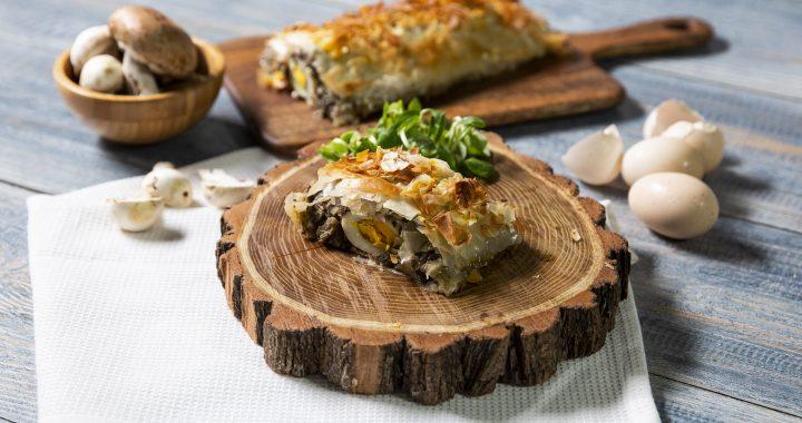 Plăcintă cu ciuperci și praz