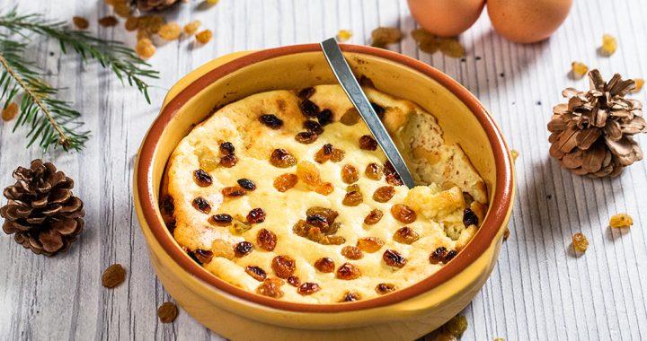 Sufleu din brânză de vaci și stafide