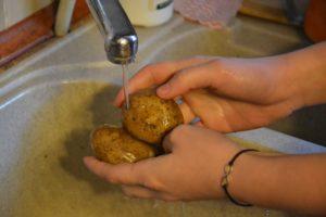 spălarea corectă a legumelor