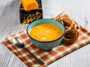 Supă de bere cu brânză Cheddar