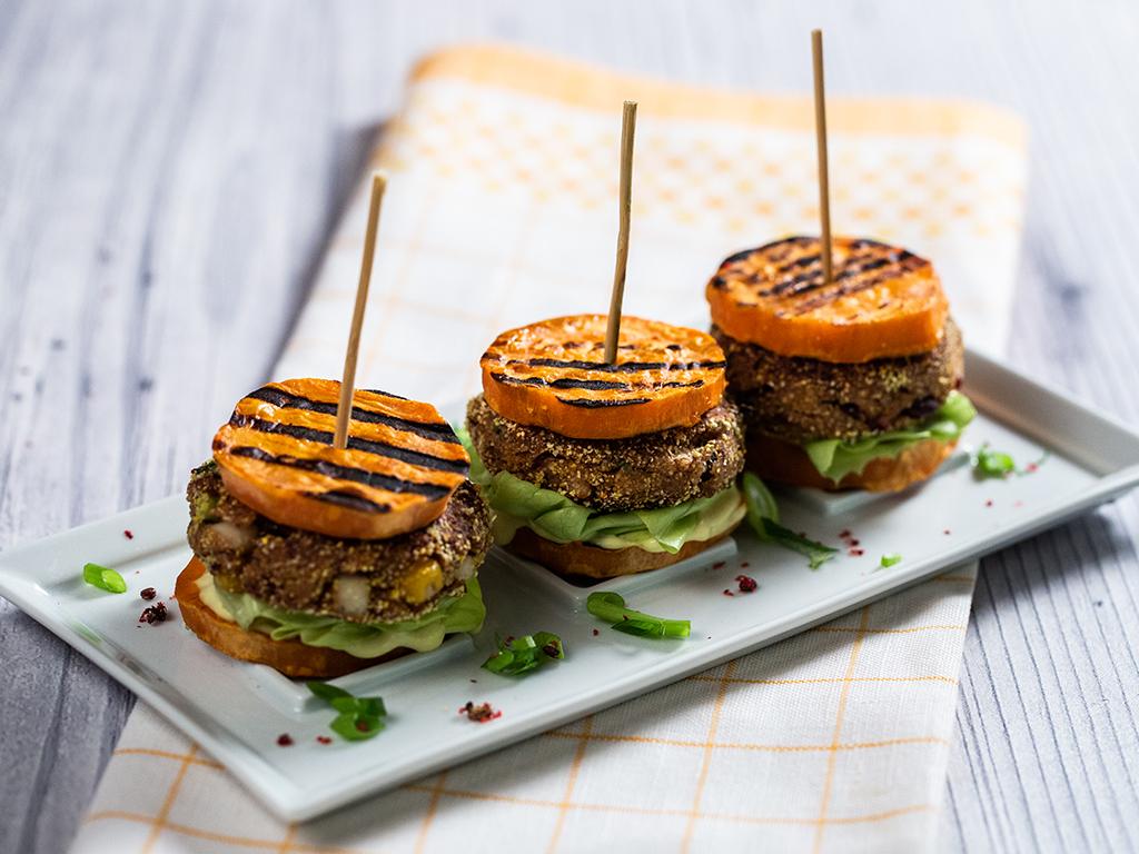 Mini-burgeri vegetarieni, fără chiflă