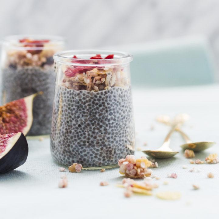 semințele de chia, în borcan