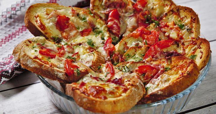 Pizza din felii de pâine