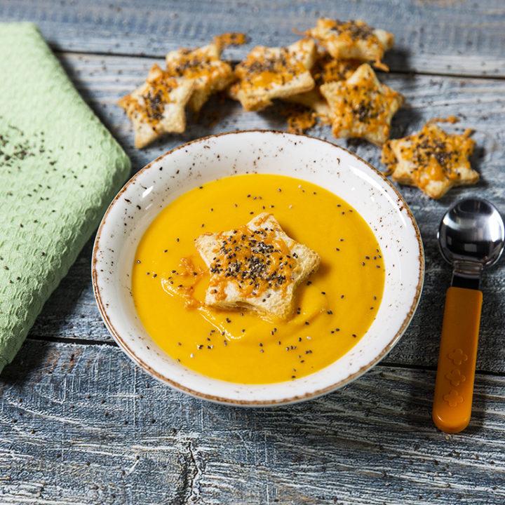 Supă cremă de dovleac cu crutoane