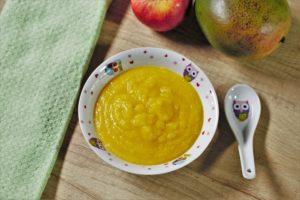 Piure de măr și mango