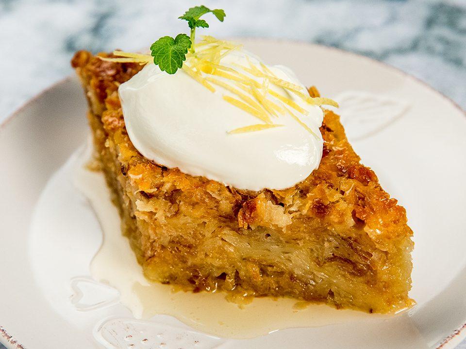 Prăjitură grecească cu foi de plăcintă și iaurt (Lemonopita)