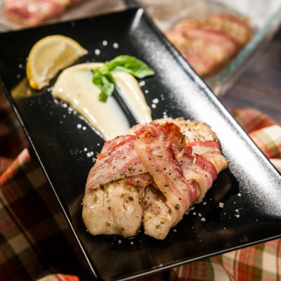 Tilapia învelit în bacon