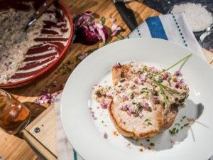 Cotlete de porc cu sos de muștar