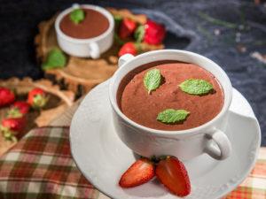 Mousse de ciocolată cu zmeură