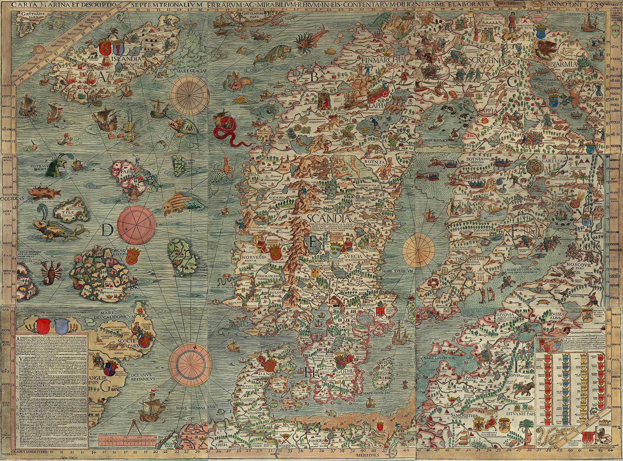 hartă veche
