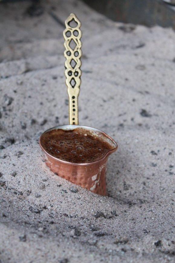 Cafea turcească la nisip