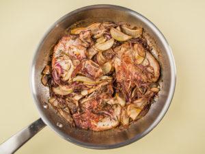 Cotlet de porc cu pere