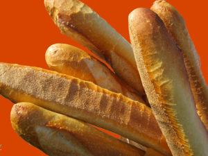 Bagheta este unul dintre cele 8 tipuri de pâine venite din Apus