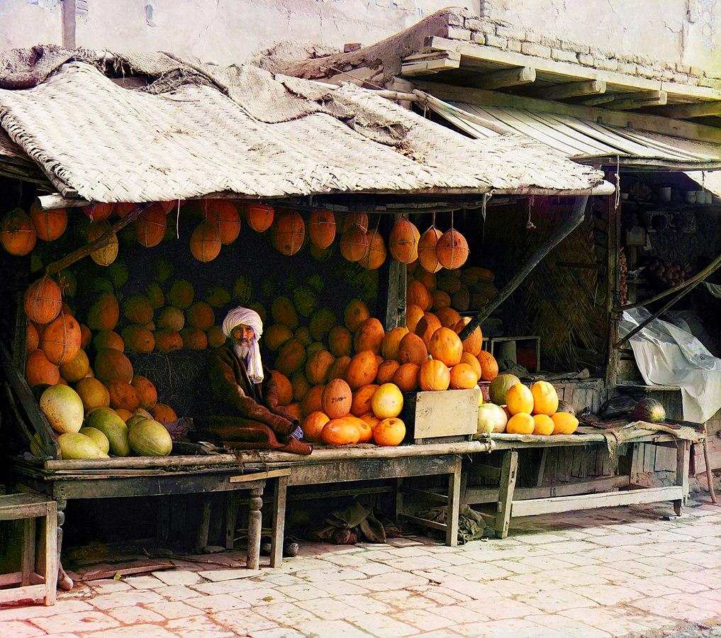 Vânzator de pepeni - Asia Centrală